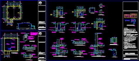 constructive details steel structure dwg detail