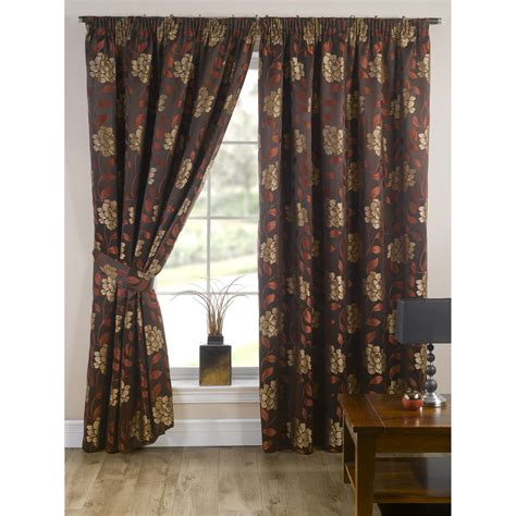 lined drapery davina fully lined ready made floral patterned curtains
