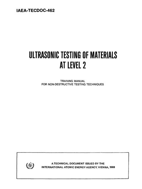 Ultrasonic Testing Of Materials ultrasonic testing of materials at level 2