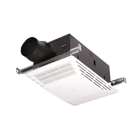 bath fan with heater shop broan 4 sone 70 cfm white bathroom fan at lowes com