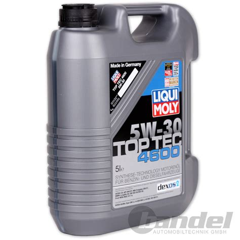 Liqui Moly Top Tec 4605 Dexos 2 5w 30 Sn 1 Liter Gasoline Diesel 8 18 l liqui moly top tec 4600 5w 30 motor 214 l 214 l 5 liter opel gm dexos 2 vw ebay
