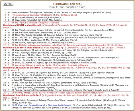 Calendar Ortodox Calendarul Ortodox 2017 Pe Fiecare Calendar Ortodox