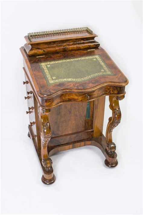 Antique Davenport Desk by Antique Burr Walnut Davenport Desk C 1870