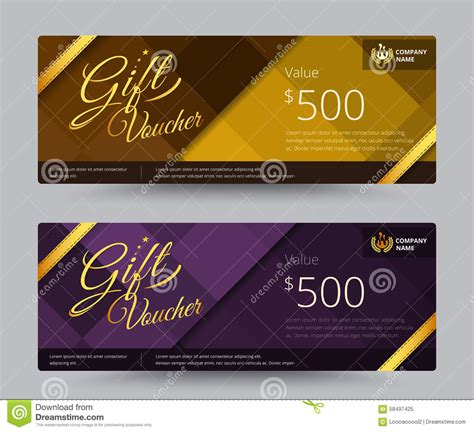 graphic design gift card template portfolio gift voucher coupon template design for special time