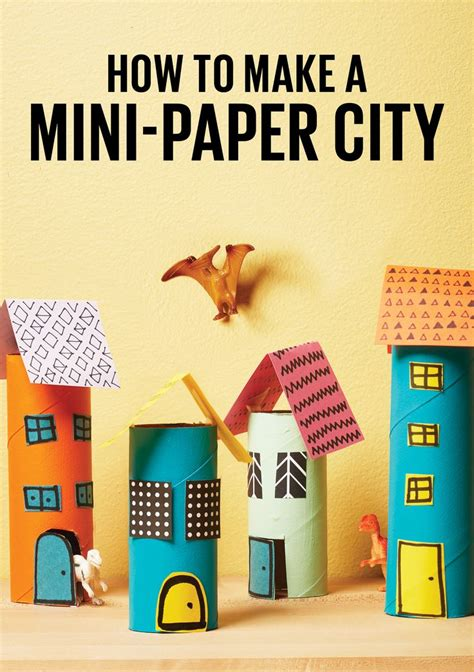 How To Make A 3d Paper City - 25 best ideas about toilet paper roll crafts on
