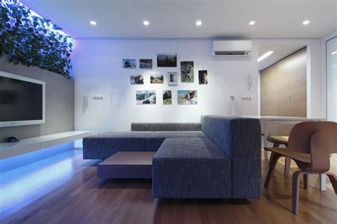 modern home interior with colorful led lighting modern apartment design with led lighting home design