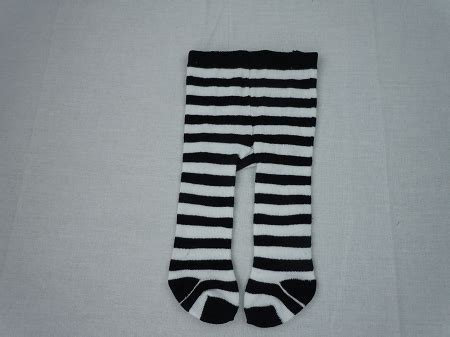 black doll company black and white stripe tights by bff doll company