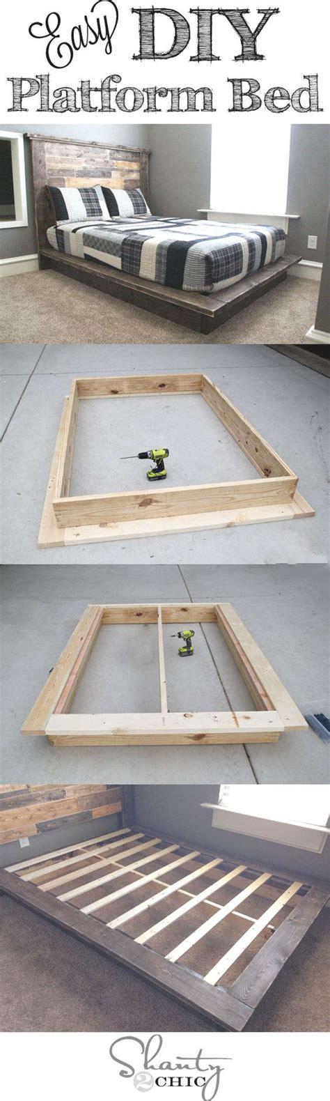 diy home craft ideen diy fabriquer un lit plate forme