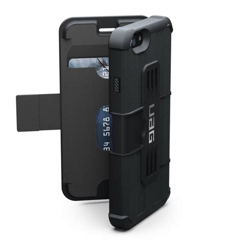 Uag Iphone 6 6g 6s Armor Gear Cover Bumper Hardcase Black genuine uag rugged phone armor gear folio flip