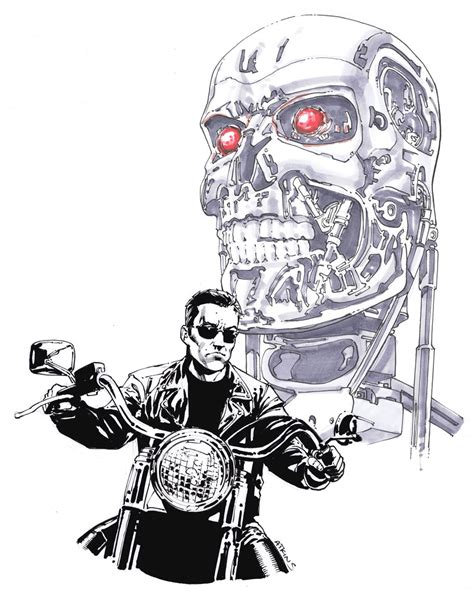 free coloring pages of terminator 2