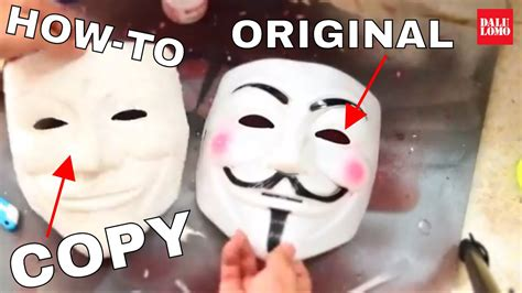 How To Make Scary Masks Out Of Paper - how to copy a mask with paper mache