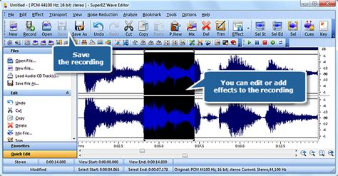 tutorial wave editor tutorial superez wave editor record audio