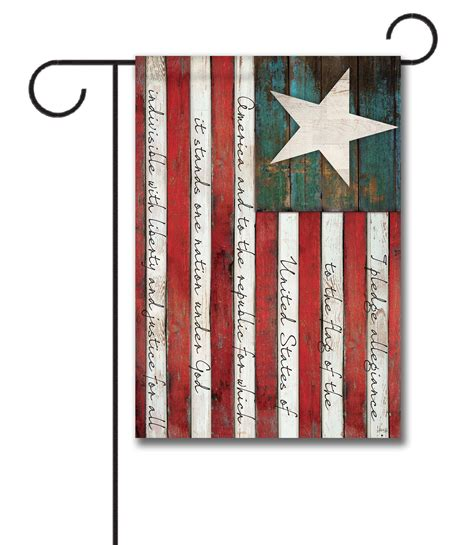 decorative flags for the home pledge of allegiance garden flag 12 5 x 18 custom printed flags flagology