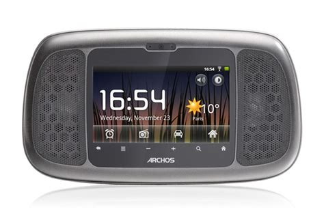 android clock radio archos 35 home connect takes on chumby with android powered clock radio the verge