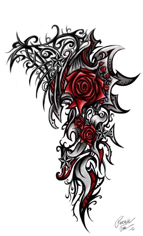 tribal roses tattoo tribal by patrike on deviantart