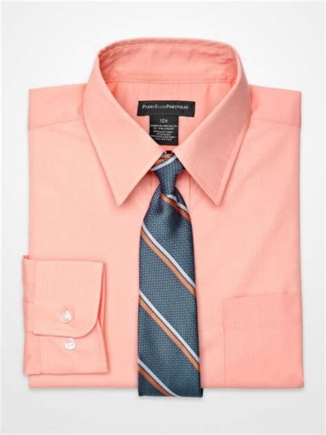 Boys Coral Shirt And Tie Ensemble Easter Matts Dress Clothes | boys coral shirt and tie ensemble easter matts dress