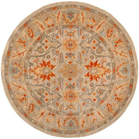 safavieh braided beige black 6 ft x 6 ft area rug