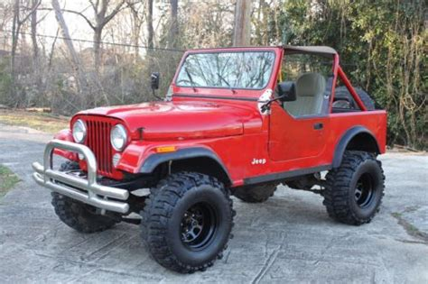 Used Jeeps For Sale In Alabama Find Used 1986 Jeep Cj7 In Birmingham Alabama United States