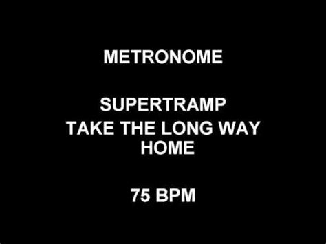 metronome 75 bpm supertr take the way home