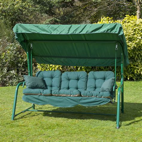 cushion swing alfresia luxury garden swing seat cushions 3 seater