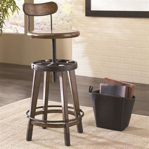 hammary bar stools hammary studio home urban weathered oak swivel adjustable