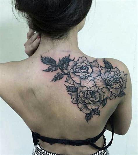 women rose shoulder tattoos www imgkid com the image