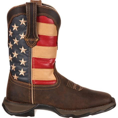 patriotic pull on western flag boot rebel by durango style rd4414