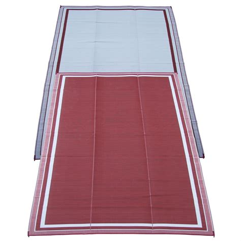 6x9 cranberry indoor outdoor reversible rv mat