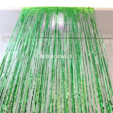 metallic foil curtains buy green metallic foil fringe door curtain 2 4m party