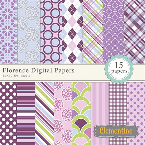 Free Paper Downloads For Card - floral digital scrapbook paper 12x12 royalty free digital