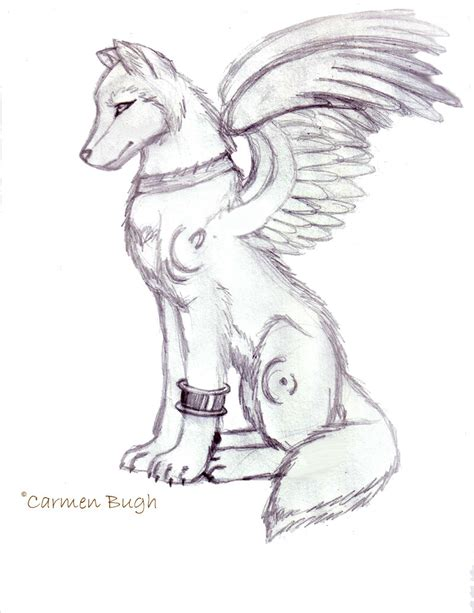 winged wolf coloring page winged fox coloring pages coloring pages