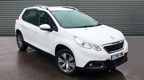 used peugeot suv used peugeot 2008 suv 1 4 hdi active 5dr 2015 cv15vwl