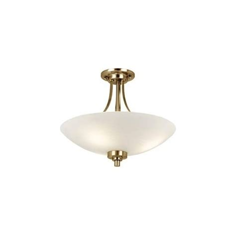 endon lighting welles 3 light semi flush ceiling fitting