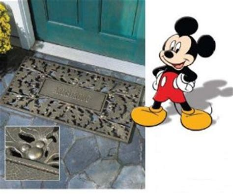 Mickey Mouse Doormat whitehall products 1710ps personalized mickey mouse pewter silver oakleaf doormat iqhomeproducts