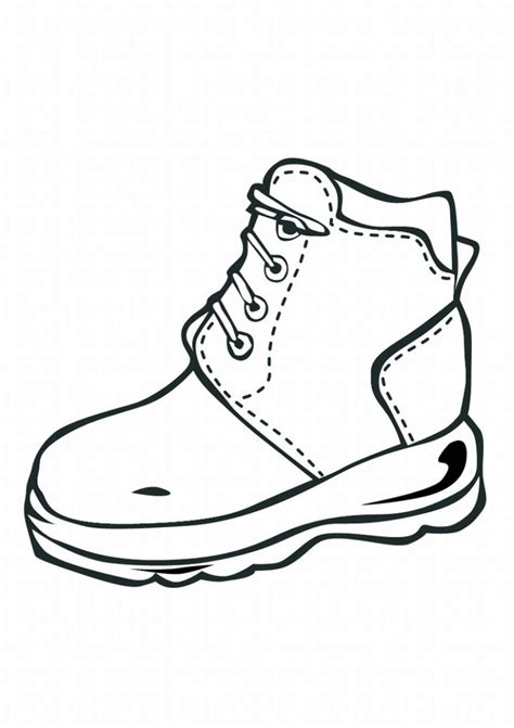 shoe coloring page shoe coloring pages to and print for free