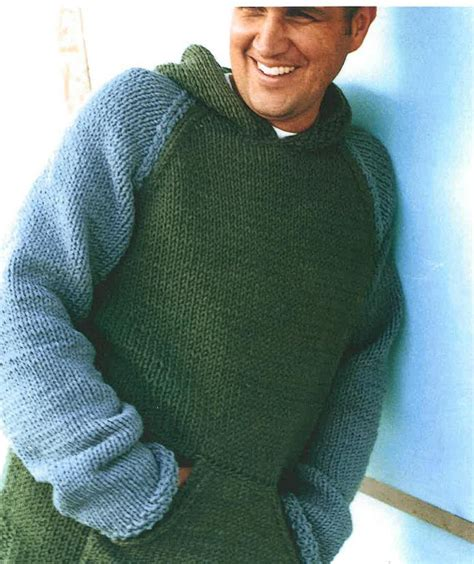 Mens Knitting Pattern Hooded Jumper | mens and boys hooded sweater knitting pattern pdf by