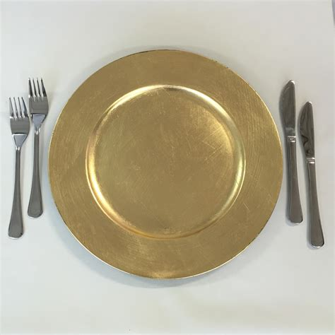 gold acrylic charger plate harbourside decorators