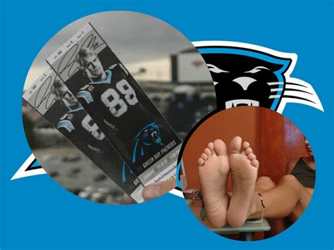 panthers fan   trade nfc title game   pics  female feet total pro sports