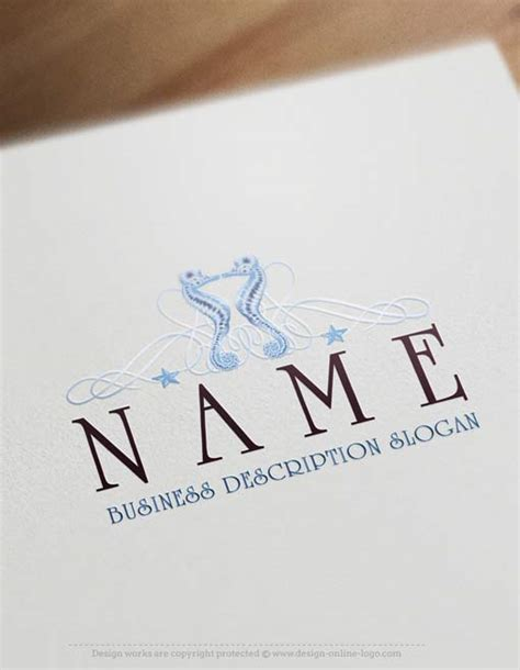exclusive logo design seahorse logo template free