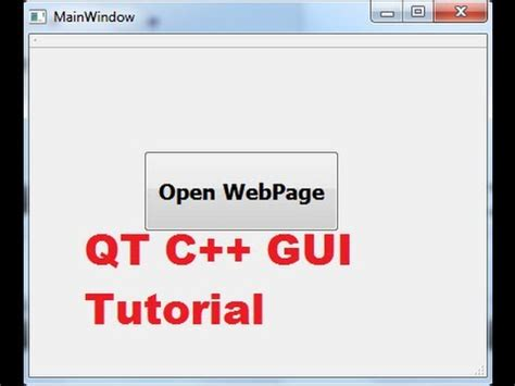 qt undo tutorial qt c gui tutorial 23 how to open a website in a default