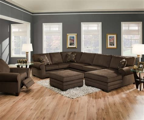 brown sofas in living rooms stunning ushaped brown sectional sofa s3net sectional