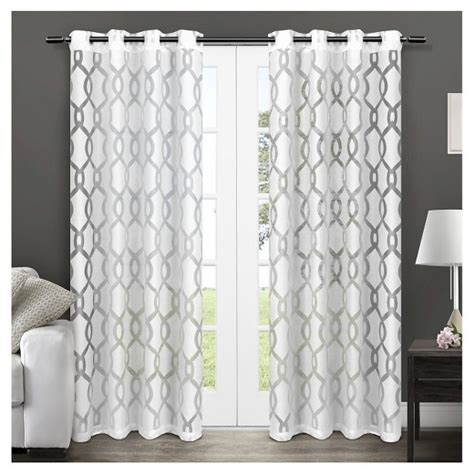 curtain panel pairs sale rio sheer window curtain panel pair white exclusive home