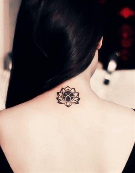 neck tattoo elegant elegant small lotus flower blossom tattoo on neck