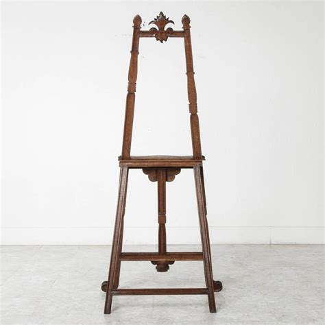 Easel Floor L 19th Century Carved Walnut Artist S Floor Easel Or Stand Display For Sale At 1stdibs