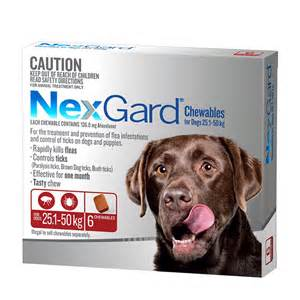 nexgard for large dogs 25 1 50kg red