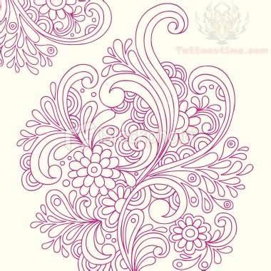 unique flower tattoo designs paisley pattern images designs