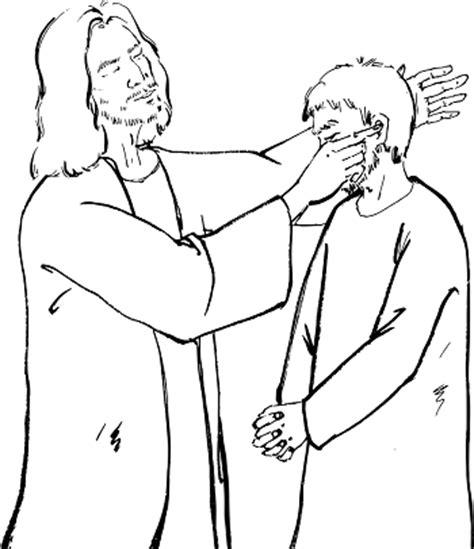 coloring page jesus heals deaf jesus heals a deaf coloring pages