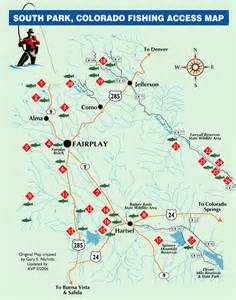 colorado fly fishing map south park area