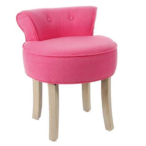 Modern Vanity Chair Tabouret Avec Dossier Quot Firmin Quot Rose