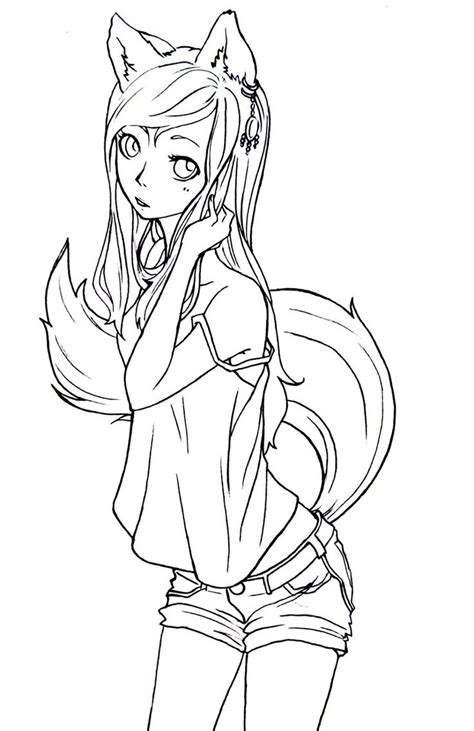 cute manga coloring pages best photos of anime fox coloring pages cute anime chibi
